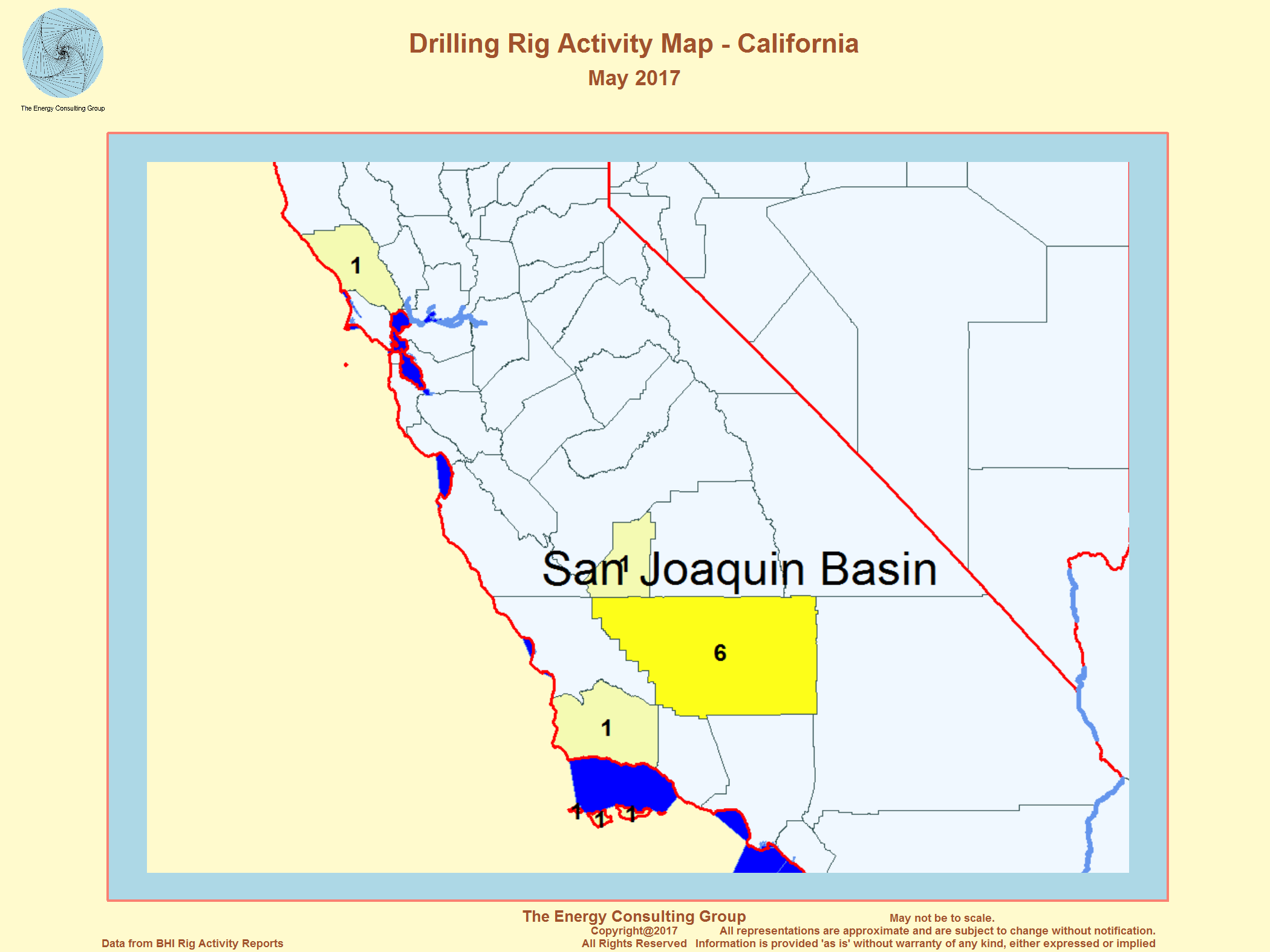 United States Oil And Gas Drilling Activity - Us droup map california change