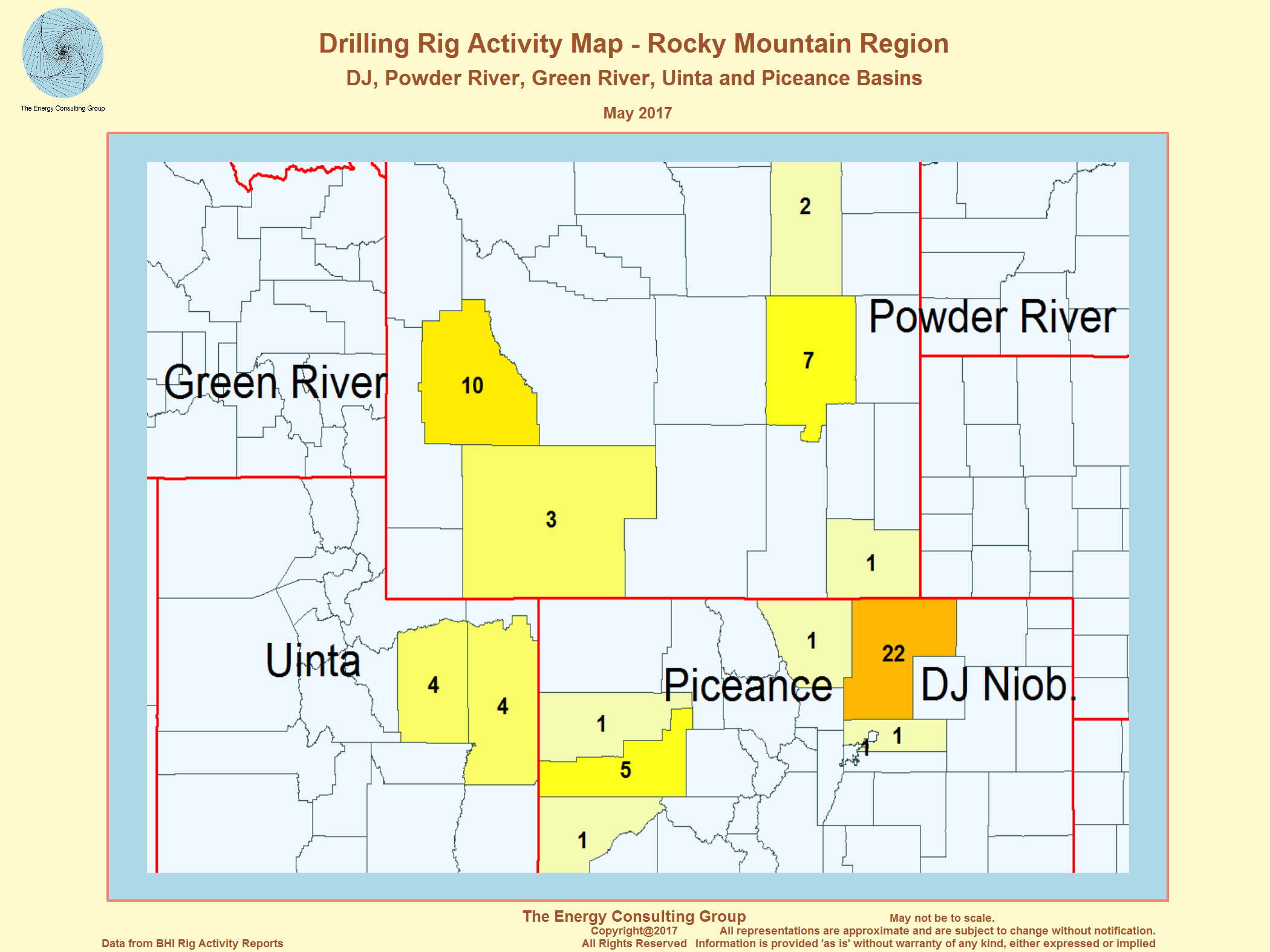 United States Oil And Gas Drilling Activity - Rocky mountains on the us map