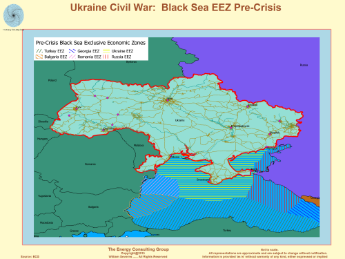 Ukraine Map: Black Sea pre-crisis Exclusive economic zones (Ukraine, Russia,  Turkey, Romania, Bulgaria)