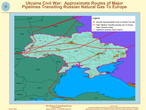 ukraine: russian natural gas pipelines
