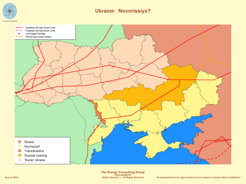 Ukraine: Novorissiya, Russian Natural Gas Pipelines