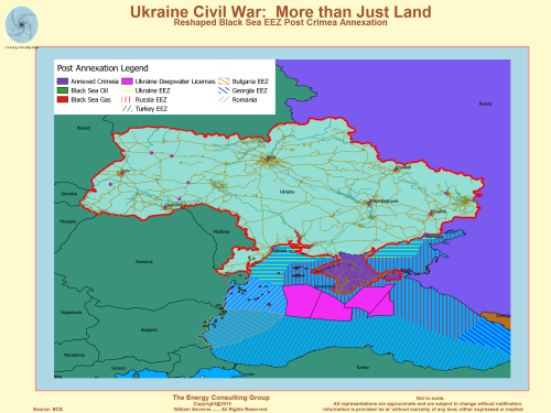 Ukraine Map: Black Sea oil and gas concessions after Crimea Annexation