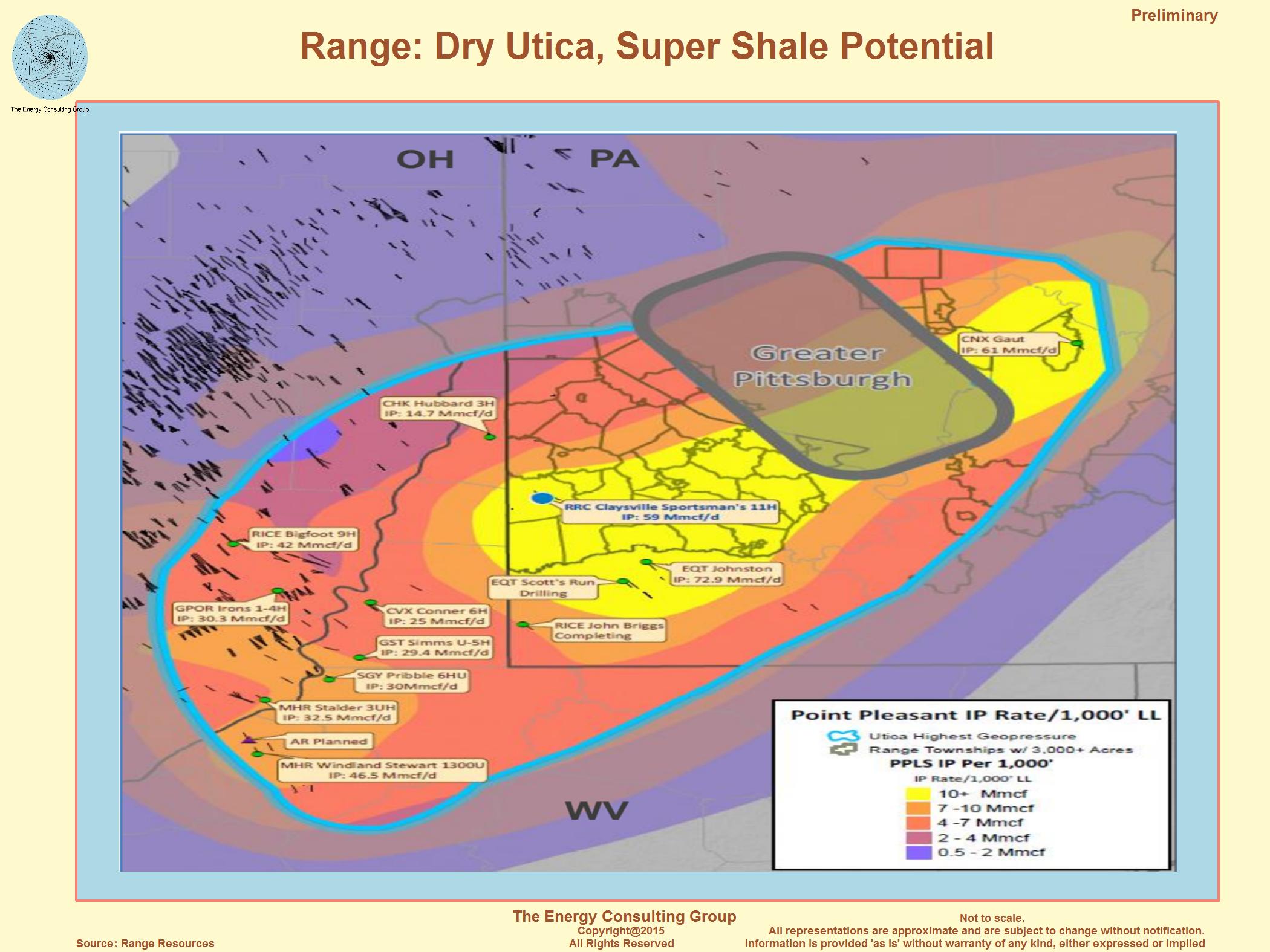 Utica Super Shale Play Deep Dry Utica - Shale gas map usa
