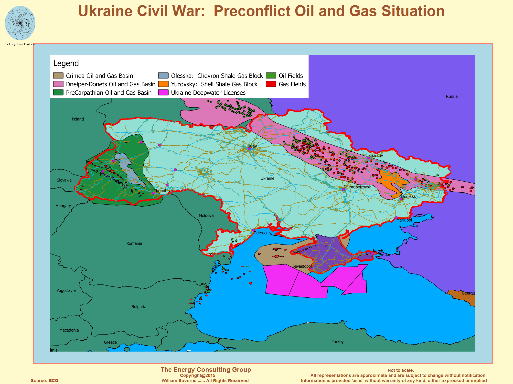 The Crisis In The Ukraine - Shale gas map usa
