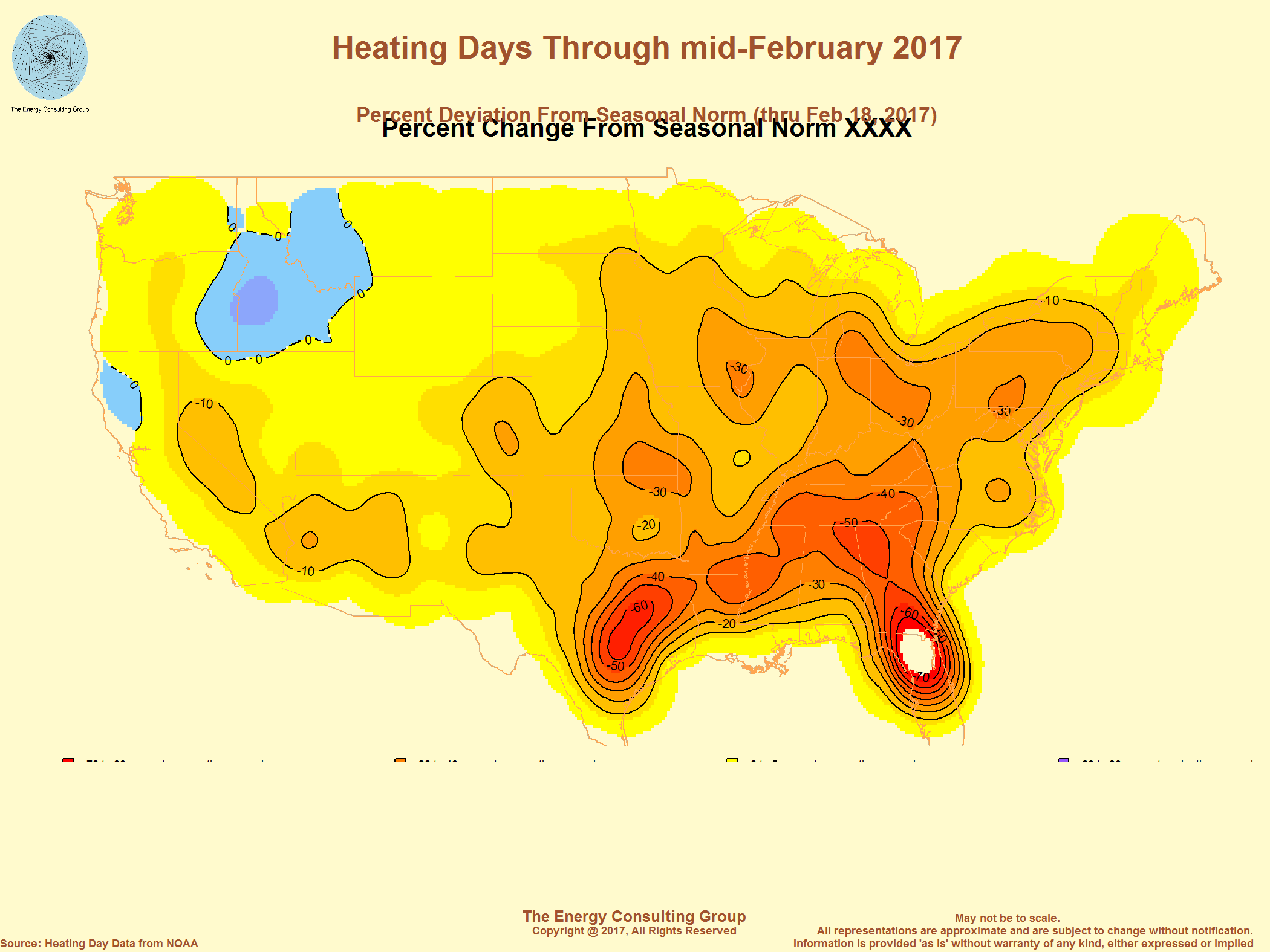 Usa Heating Day Through Mid February 2017